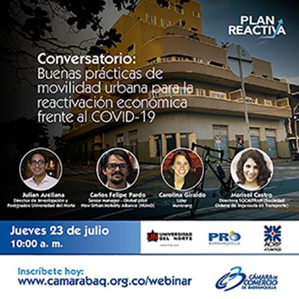 Conversatorio: Buenas prácticas de movilidad urbana para la reactivación económica frente al Covid 19