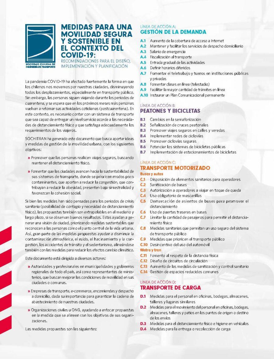"""Lanzamiento """"Medidas para una movilidad segura y sostenible en el contexto del Covid-19"""" Recomendaciones para el diseño, implementación y planificación"""