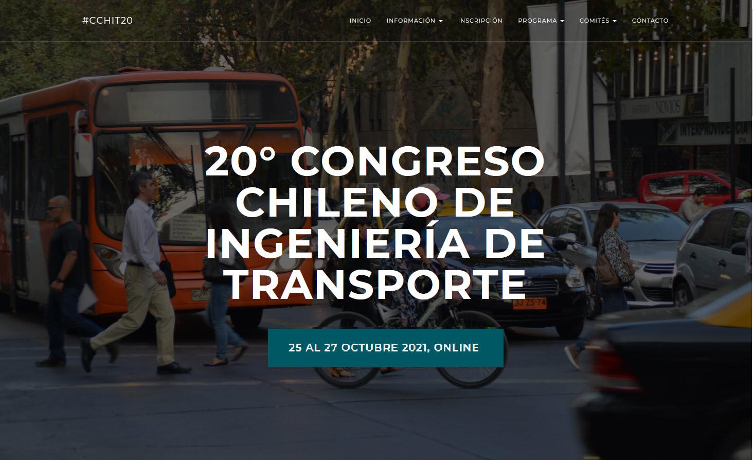 20° Congreso Chileno de Ingeniería de Transporte